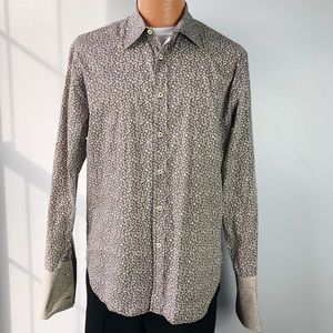 Paul Smith Floral Button Down Dress Shirt Size L